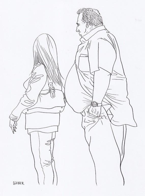 Zeichnung 190  Vorbau   Tusche auf Karton,2009,   30 x 40 cm