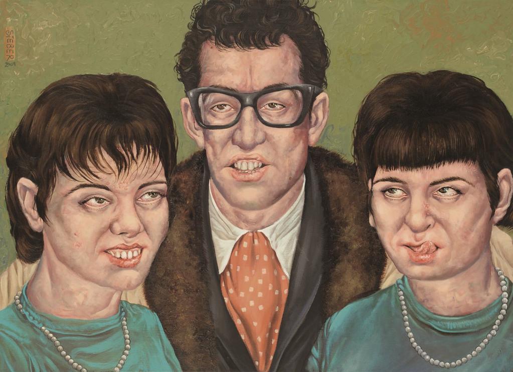 Gemälde 332  Rock´n Roll Brille    Acryl auf Leinw.,2009, 50 x 70 cm