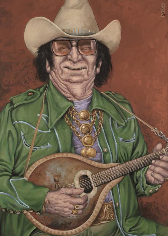 Gemälde 353  Nudie Cohn    Acryl auf Leinw.,2010,  50 x 70 cm