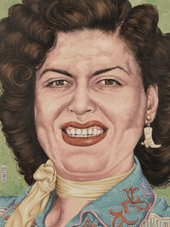 Gemälde 290  Patsy Cline  Acryl auf Leinw.,2009, 60 x 80 cm