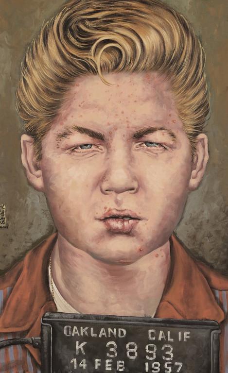 Gemälde 344  Juvenile Delinquent     Acryl auf Leinw.,2009, 50 x 80 cm