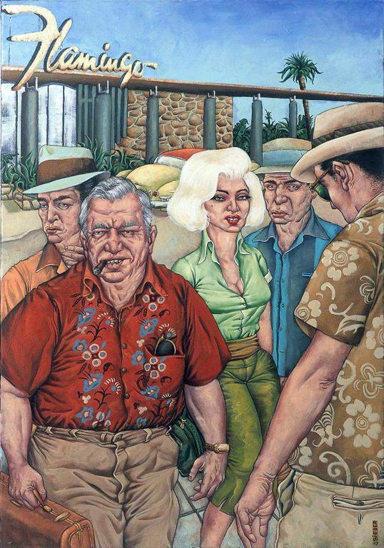Gemälde 227  Vegas Connection   Acryl auf Leinw.,2007,  50 x 70 cm