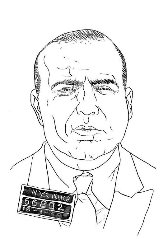 Zeichnung 60  Carmine Galante Tusche auf Karton,2006,  24 x 32 cm