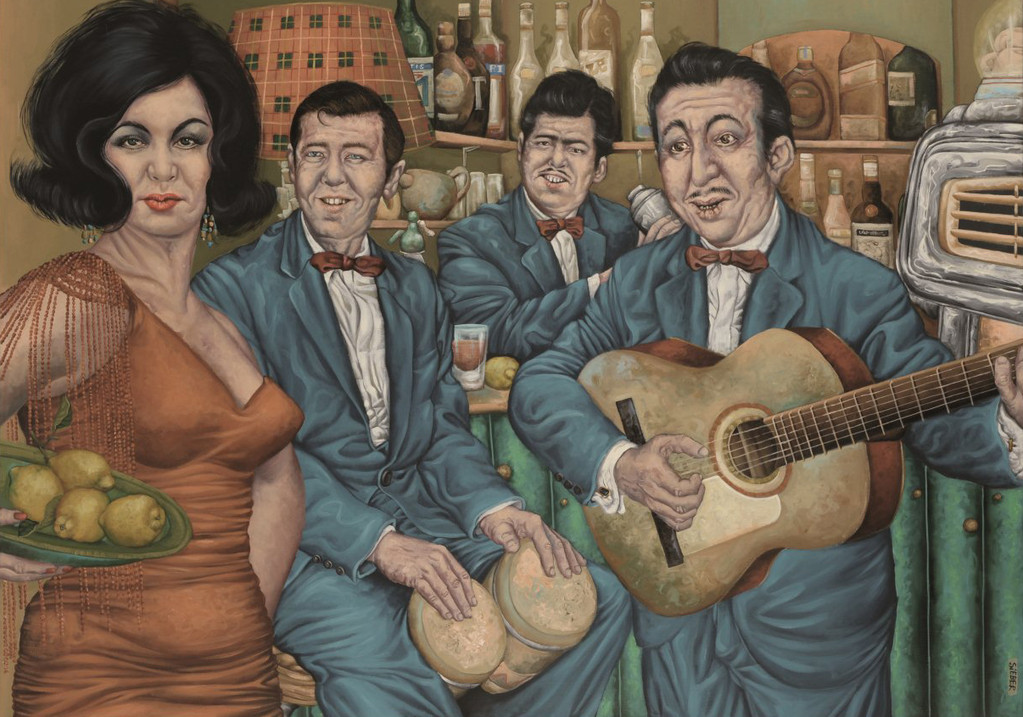 Gemälde 366  Mambo Italiano   Acryl auf Leinw.,2010,    100 x 140 cm