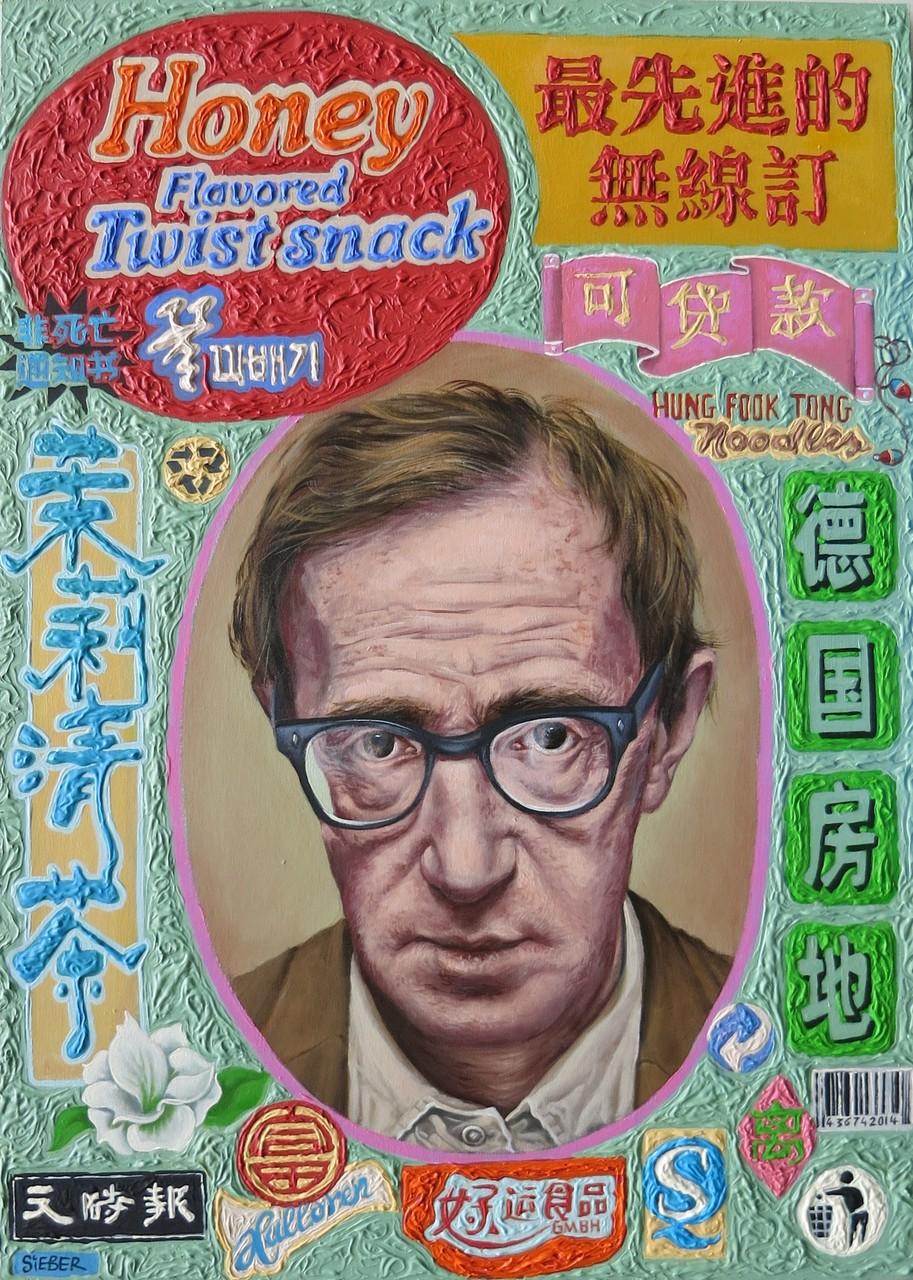 Gemälde  475. Mr. Allen Twist Snack , Acryl auf Hartfaserplatte ,2014, 50 x 70 cm