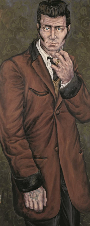 Gemälde 368  Teddyboy   Acryl auf Leinw.,2010,   55 x 135 cm