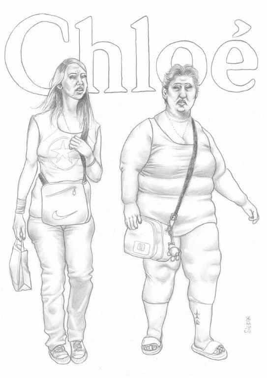Zeichnung 435  Chloe  Graphit  auf Karton,2011,  30x42 cm