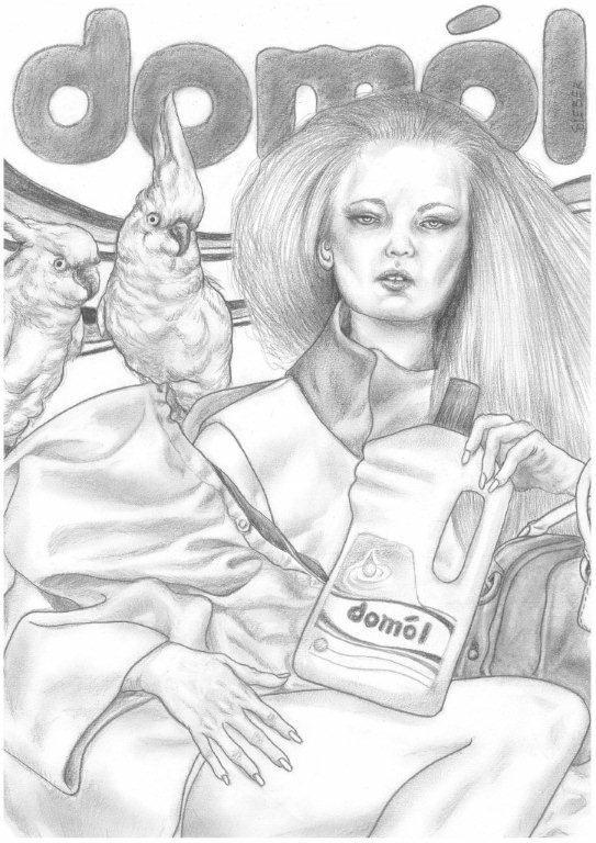 Zeichnung 459  Domol   Graphit auf Karton,2011,  30x42 cm