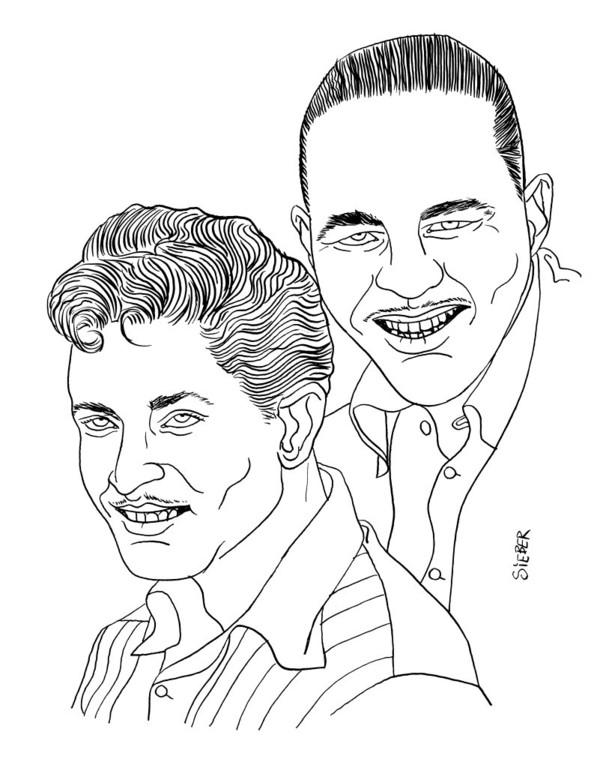 Zeichnung 351  Bob & Earl  Tusche auf Karton,2010, 25 x 32,5 cm