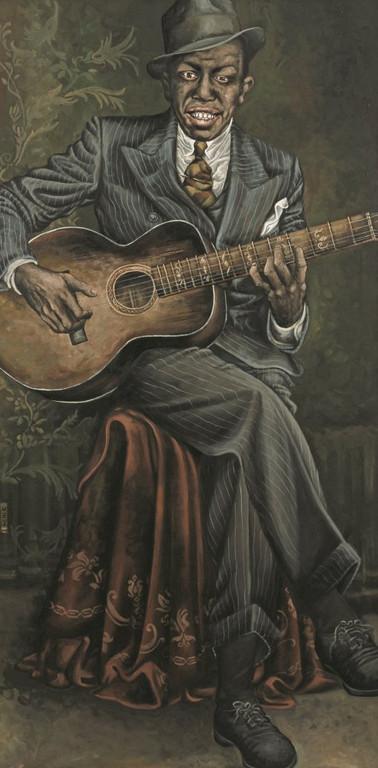 Gemälde 276  Robert Johnson   Acryl auf Leinw. ,2009,  75 x 120 cm