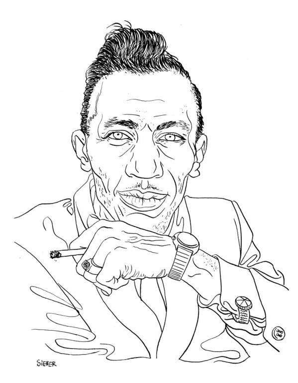 Zeichnung 405  Lee Dorsey  Tusche auf Karton,2010, 25 x 32,5 cm