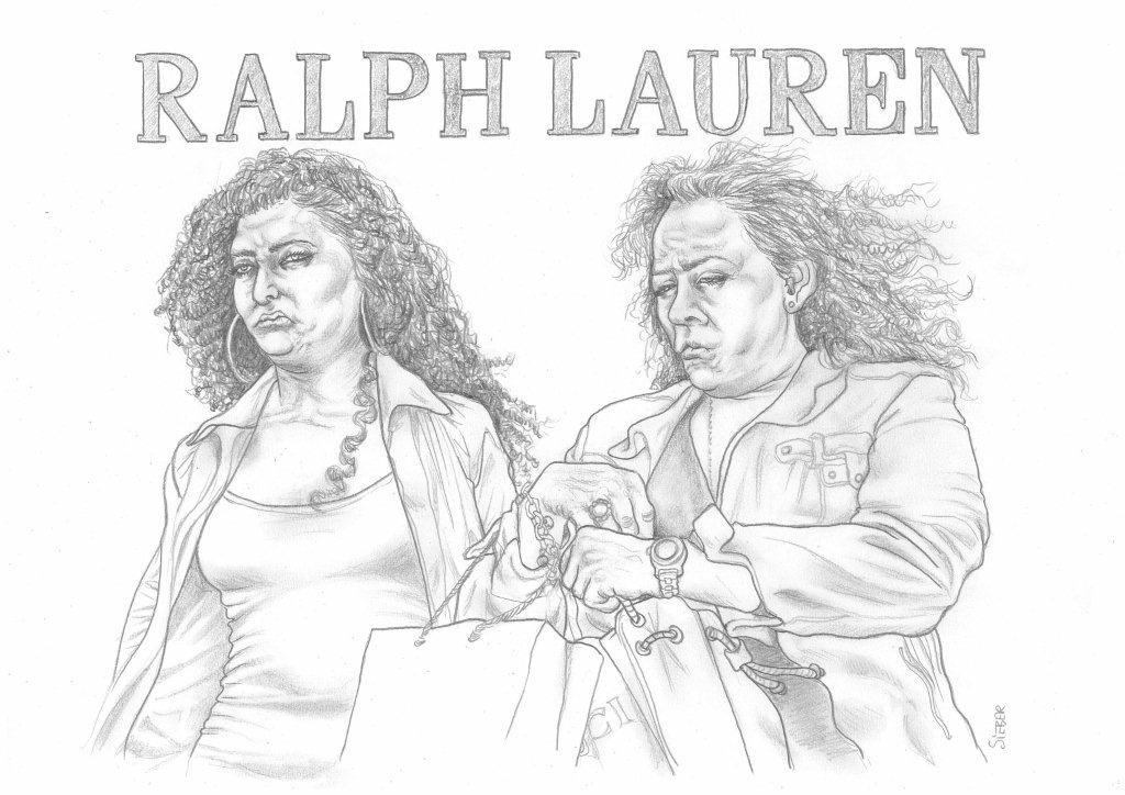 Zeichnung 444.  Ralph Lauren  Graphit  auf Karton,2011,  30x42 cm