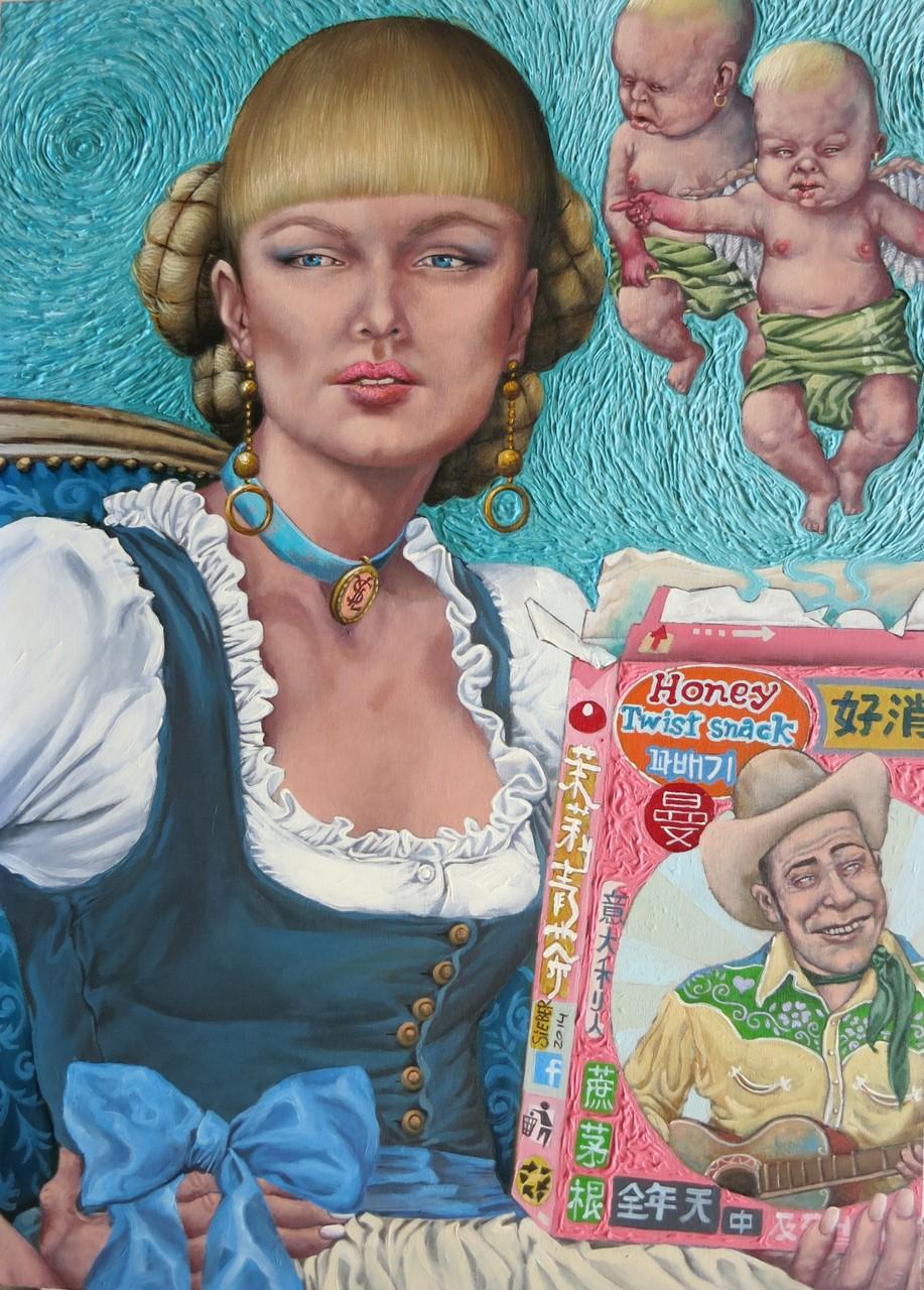 Gemälde  474. Surprise, Acryl auf Hartfaserplatte ,2014, 50 x 70 cm