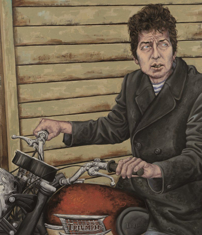 Gemälde 356  Bob   Acryl auf Lein.,2010,    95 x 110 cm