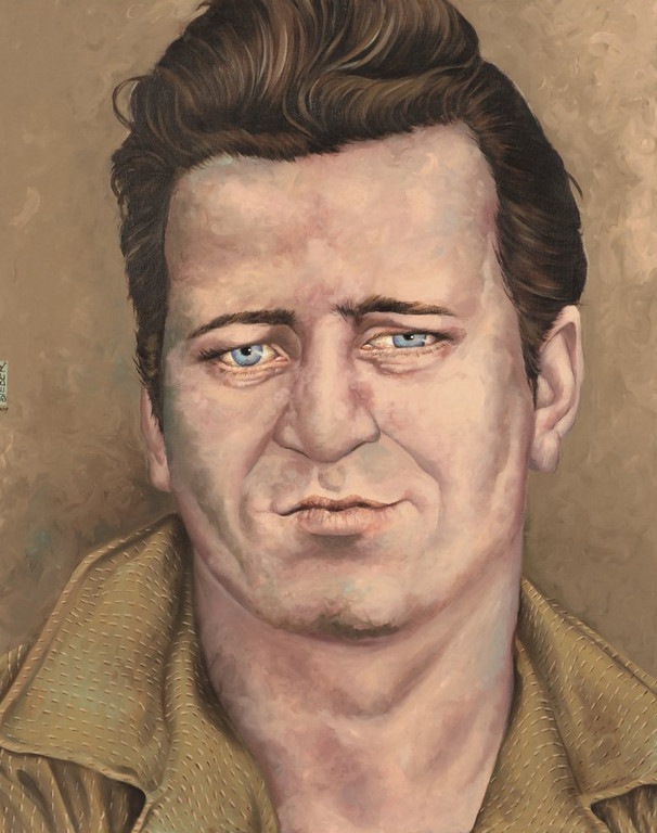 Gemälde 337  Johnny Burnette   Acryl auf Leinw.,2009, 80 x 100 cm