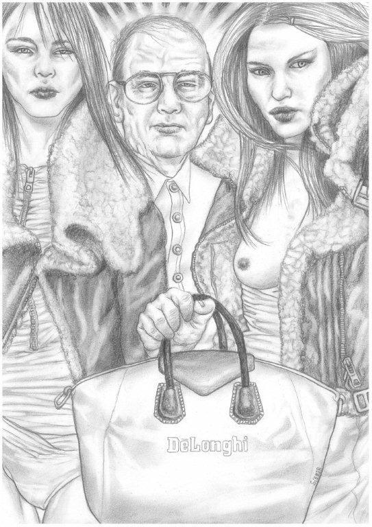 Zeichnung 463  De Longhi   Graphit auf Karton,2011,  30x42 cm