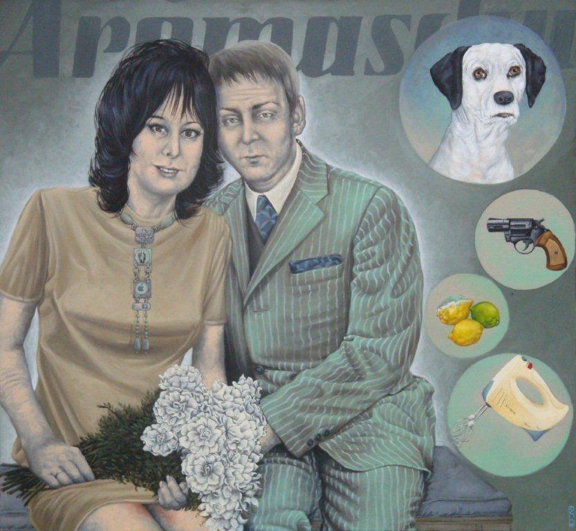Gemälde 426 ,Aromaschutz ,Acryl auf Leinwand, 2012, 120 x 130 cm