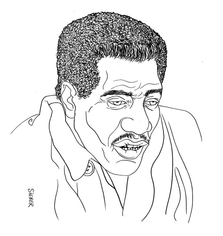 Zeichnung 344  Otis Redding  Tusche auf Karton 25 x 32,5 cm