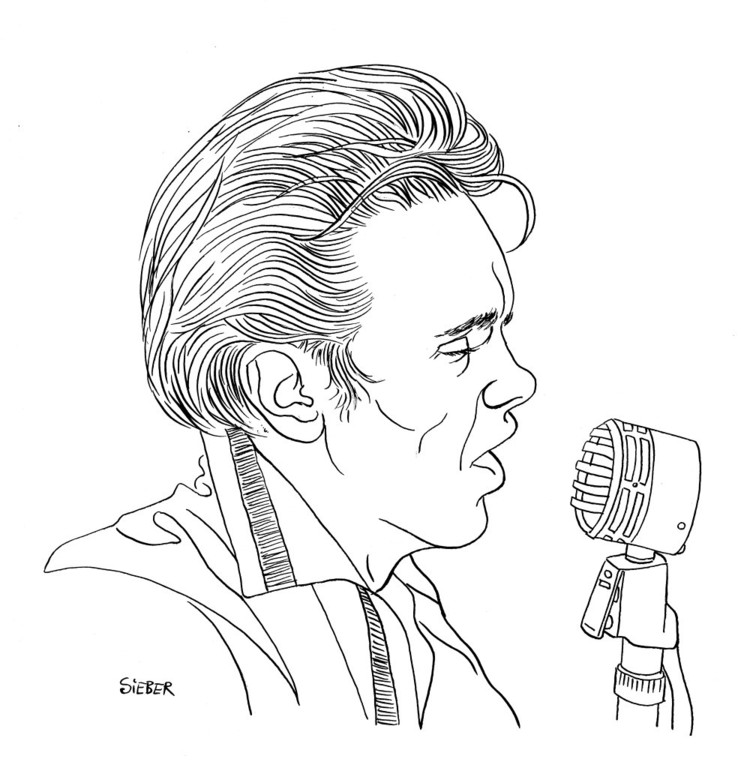 Zeichnung 362  Billy Fury  Tusche auf Karton,2010, 25 x 32,5 cm