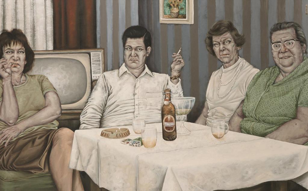 Gemälde 258  Impressionistisches Leben Acryl auf Leinw.,2008, 100 x 160 cm