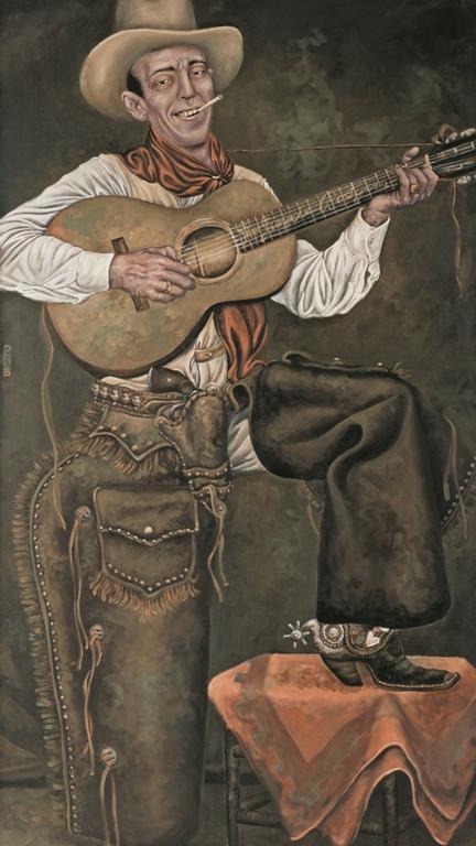 Gemälde 277  Jimmie Rodgers   Acryl auf Leinw. ,2009,  85 x 150 cm