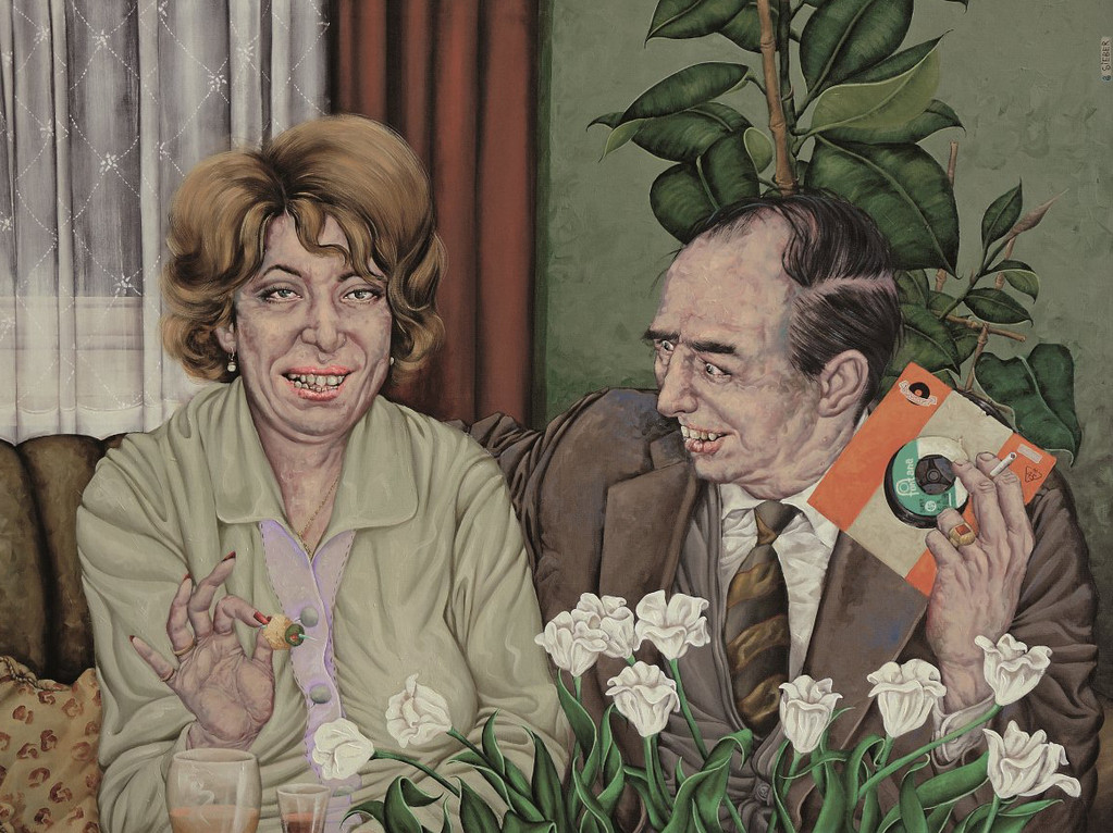 Gemälde 259  Fräulein Gisela  Acryl auf Leinw.,2008,    120 x 160 cm