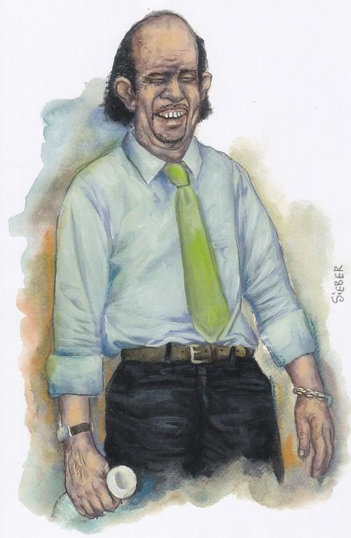 Zeichnung 201  Buon Giorno  Aquarell, Kreide und Acryl,2009,  24 x 34 cm