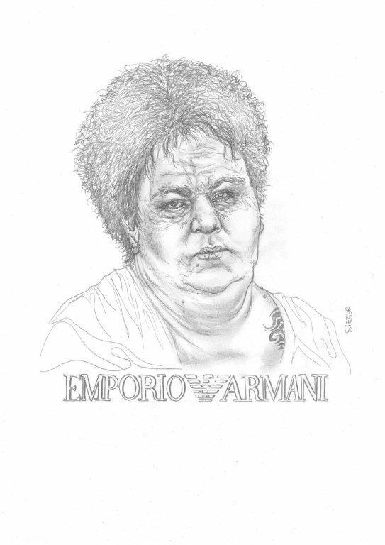 Zeichnung 439  Emporio Armani  Graphit  auf Karton,2011,  30x42 cm