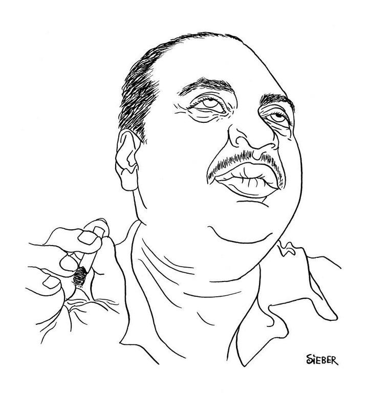 Zeichnung 253  Joe Turne  Tusche auf Karton,2010, 25 x 32,5 cm