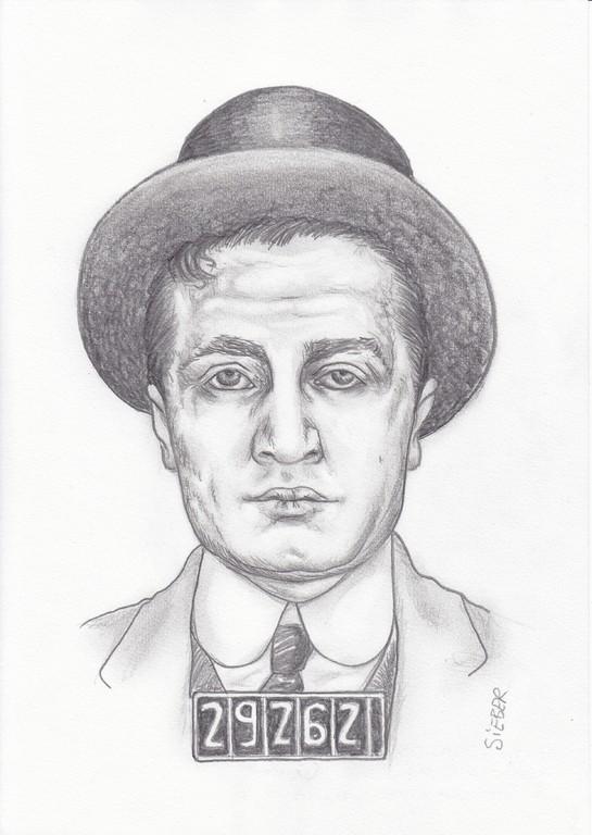 Zeichnung 429  Jack Dragna  Graphit  auf Karton,2012,  21x30 cm