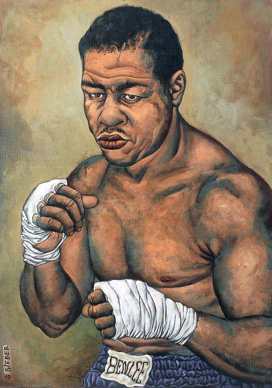 Gemälde 217  Joe Louis   Acryl auf Leinw.,2007,   50 x 70 cm