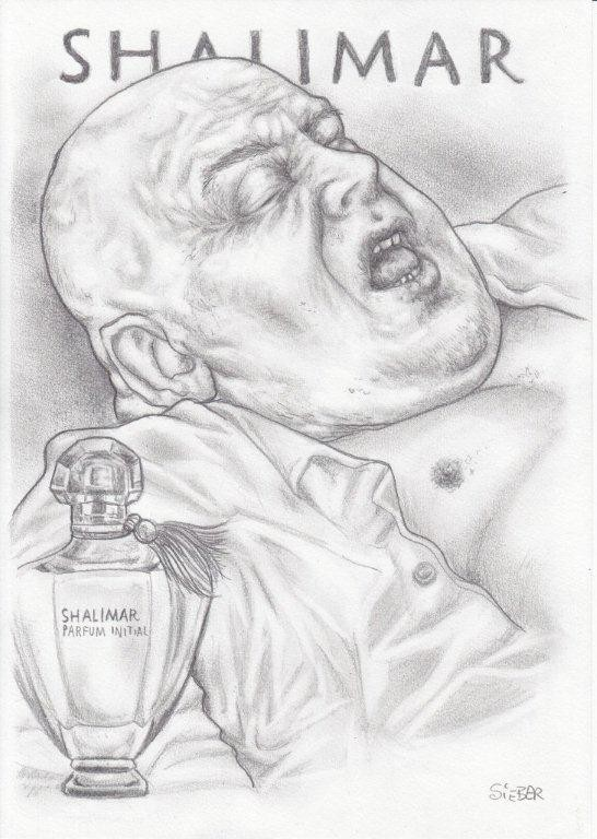 Zeichnung 456  Shalimar Graphit auf Karton,2011,  21x30 cm