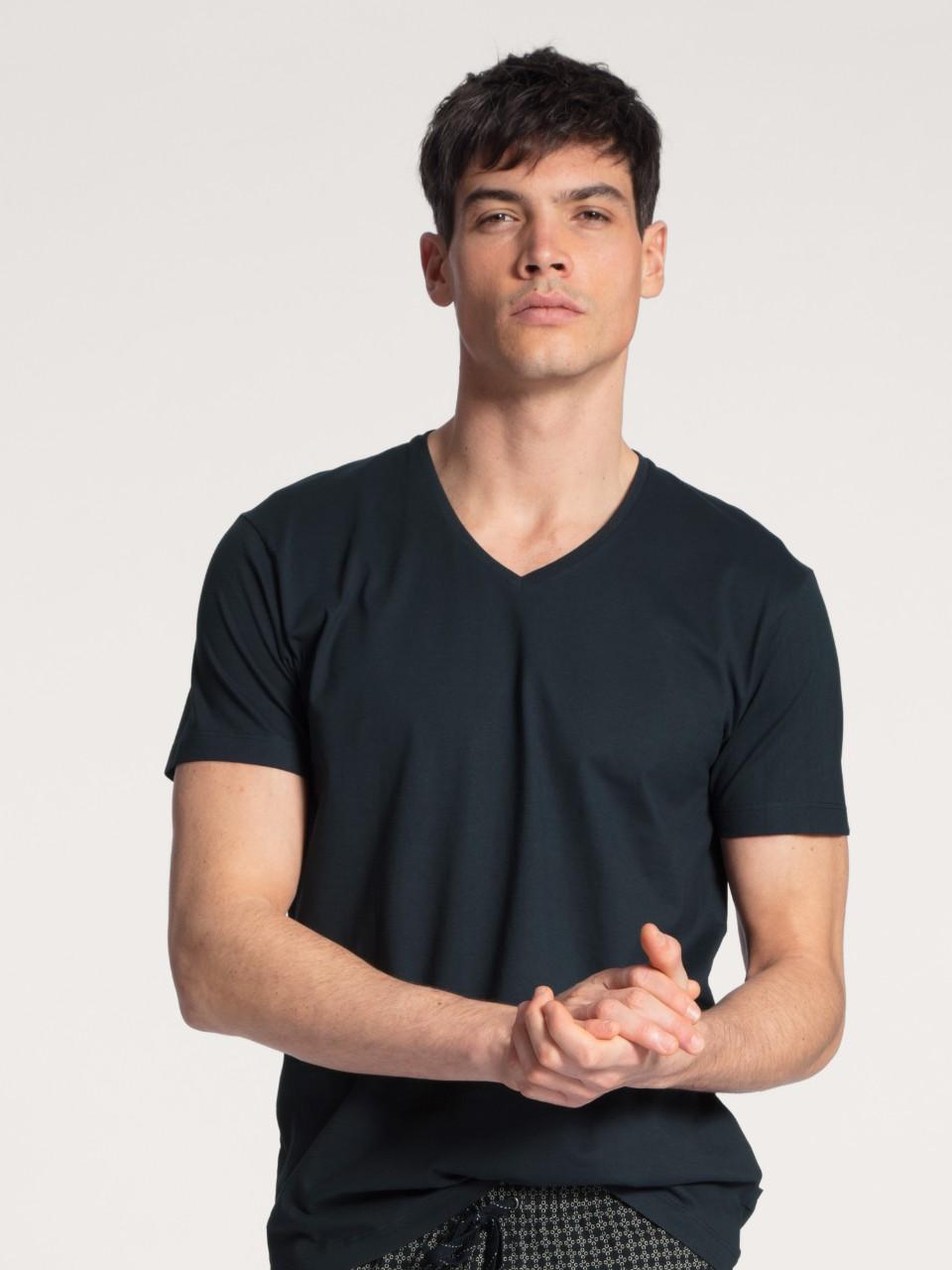 14281 479 tee-shirt marine col V 100% coton jersey Prix : 34.95 €