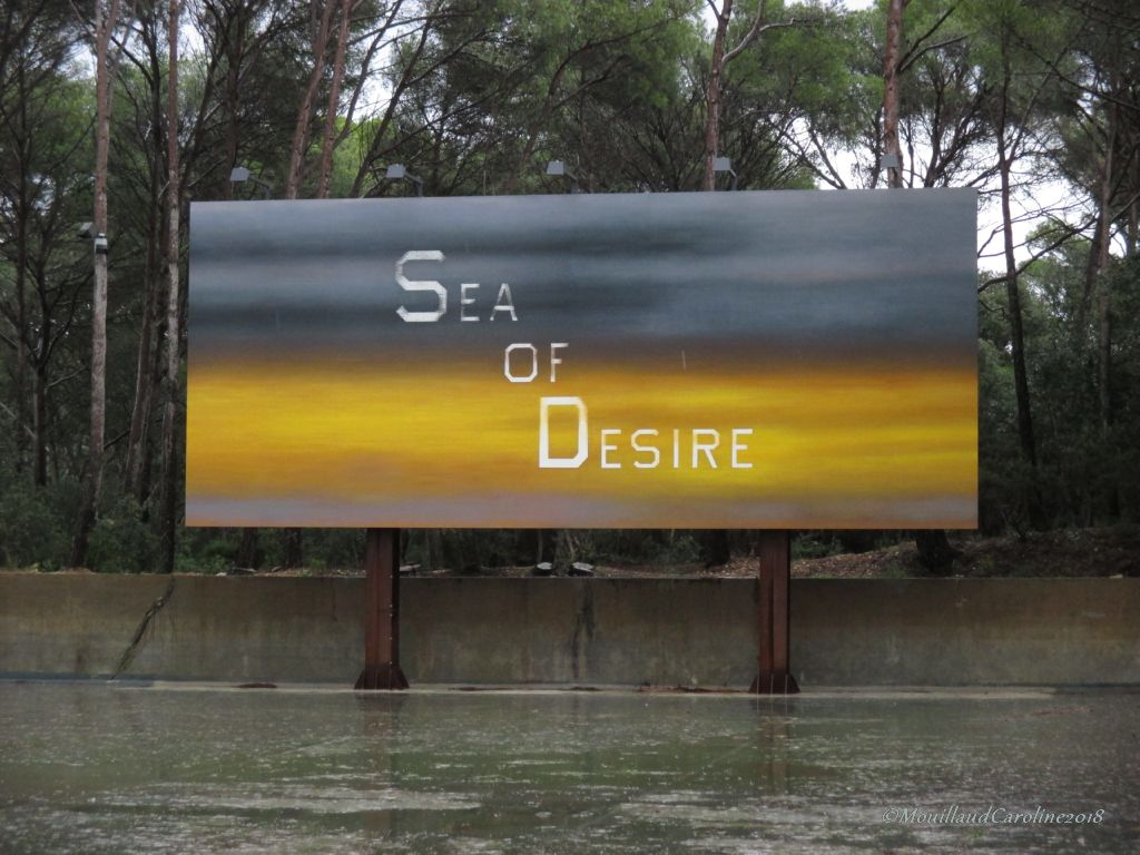 Billboard the SEA OF DESIRE 2017, Ed Ruscha