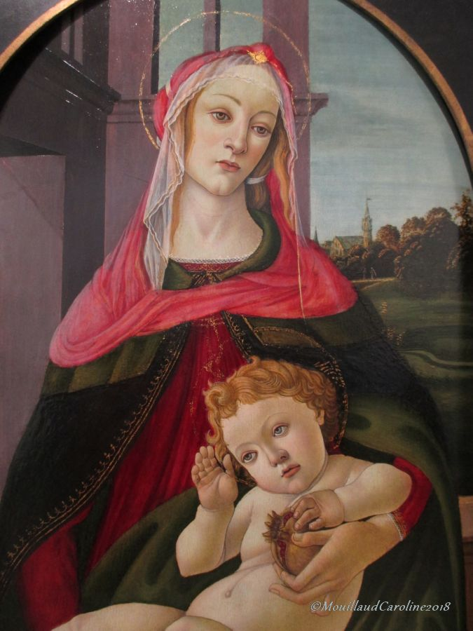 La Vierge à la Grenade, vers 1487, Sandro Bottichelli (et son atelier)