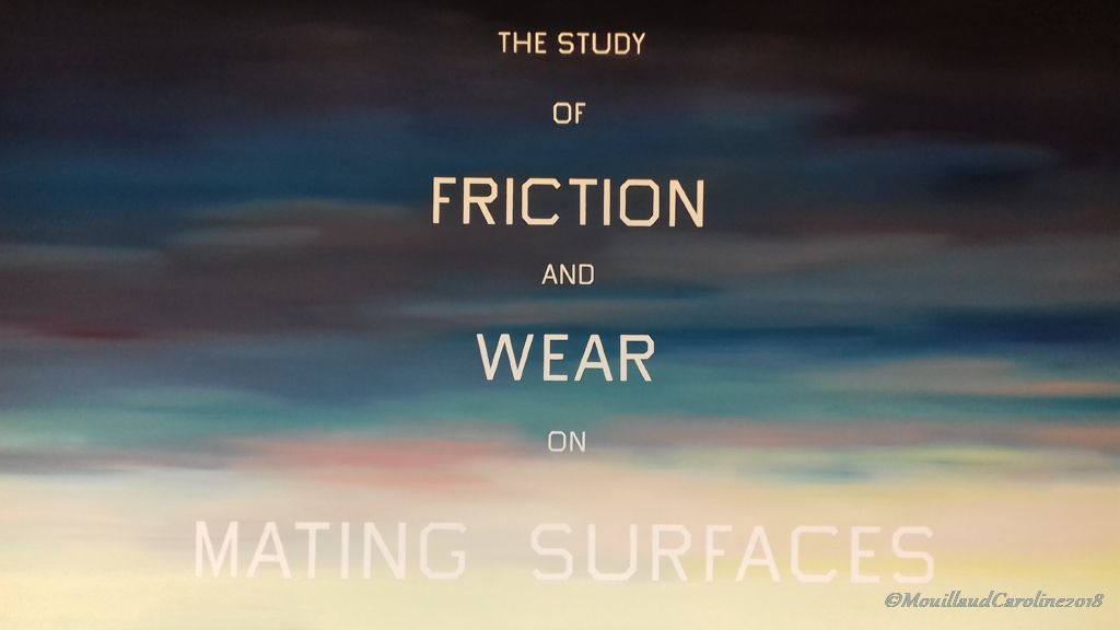 The Study of Friction and Wear on Mating Surfaces 1983, Ed Ruscha