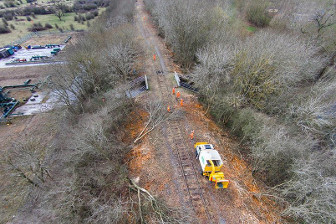 East of Steeple Claydon on the East West Rail route, more work is needed on disused sections.  This section will not open until 2019.