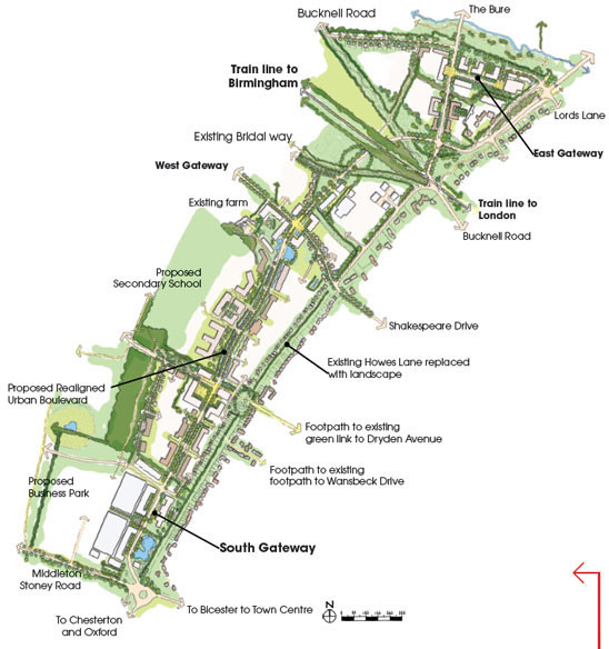 NWBicester's plans for Howes Lane or the 'Urban Boulevard' as they term it.
