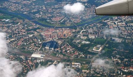 Luftaufnahme von Dresden-Altstadt und -Zentrum