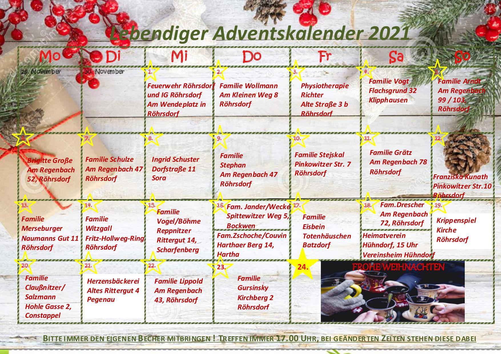 Lebendiger Adventskalender