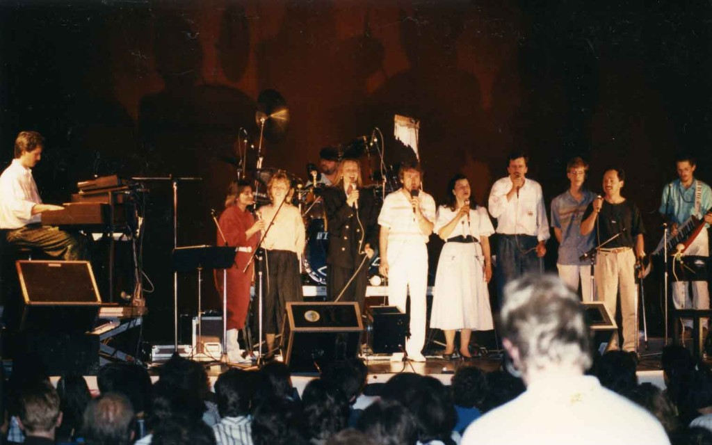 Robert Holly mit der Gruppe Spes Vivens, 1987 in Dornbirn