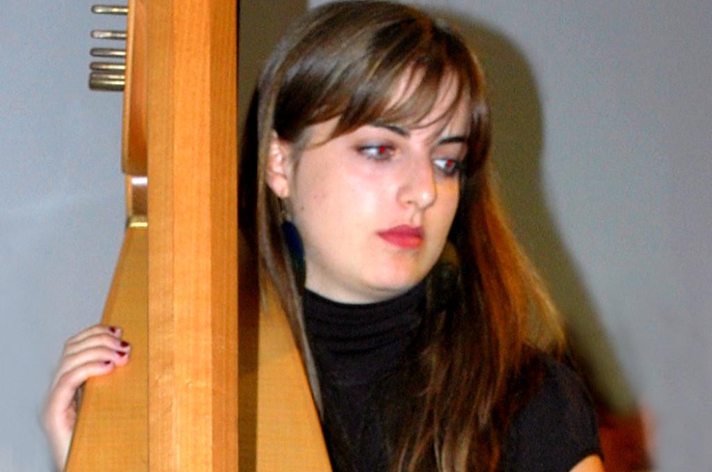 Mit Elli Sutter, Harfe