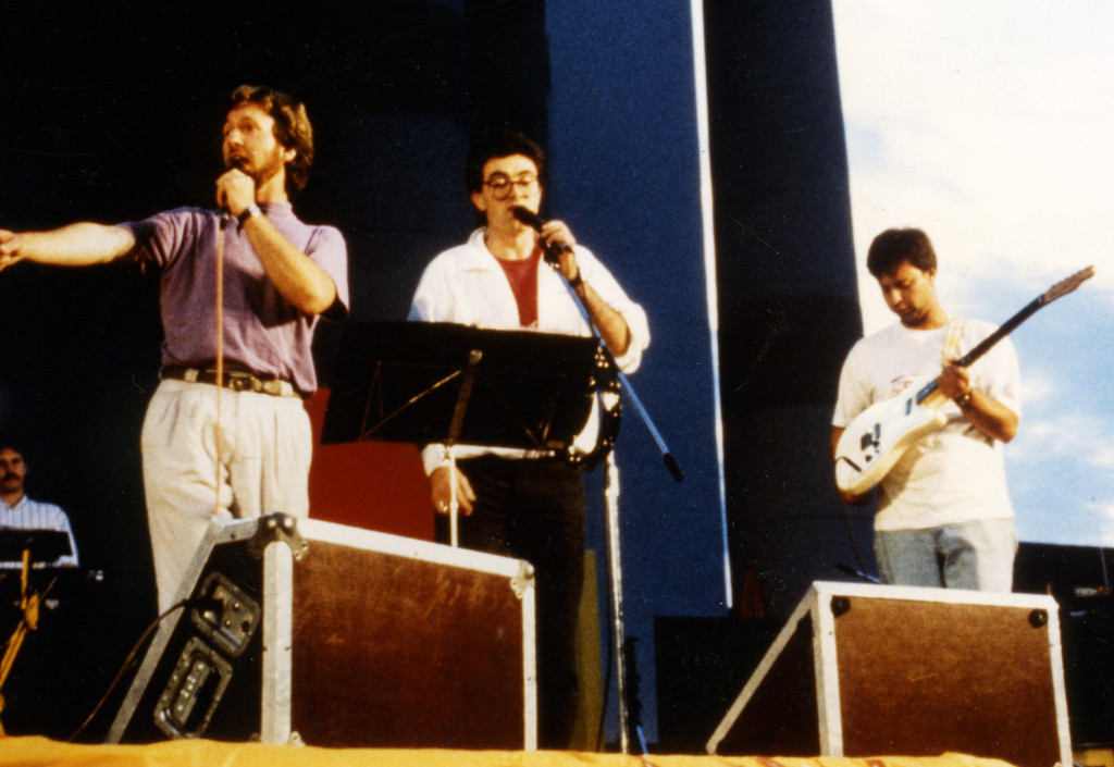 Open Air in Dornbirn mit Leo Byrne und Alex Konrath1989