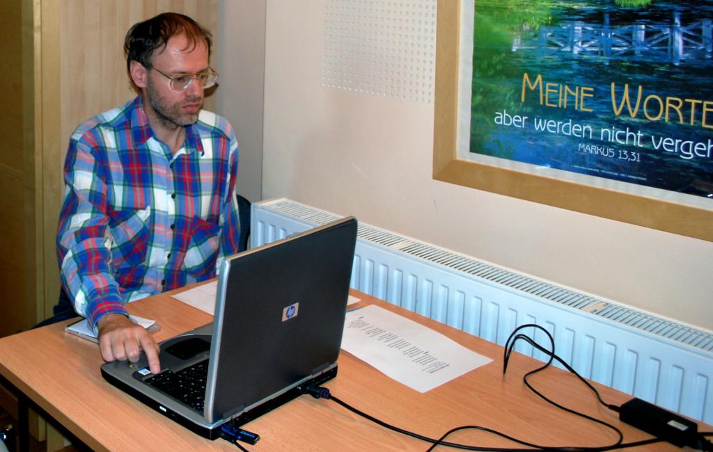 Mit Reinhard Hofbauer, PowerPoint - Projektion