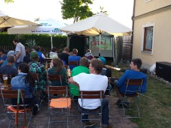 Public Viewing in der Fussball-Europa/Weltmeisterschaft