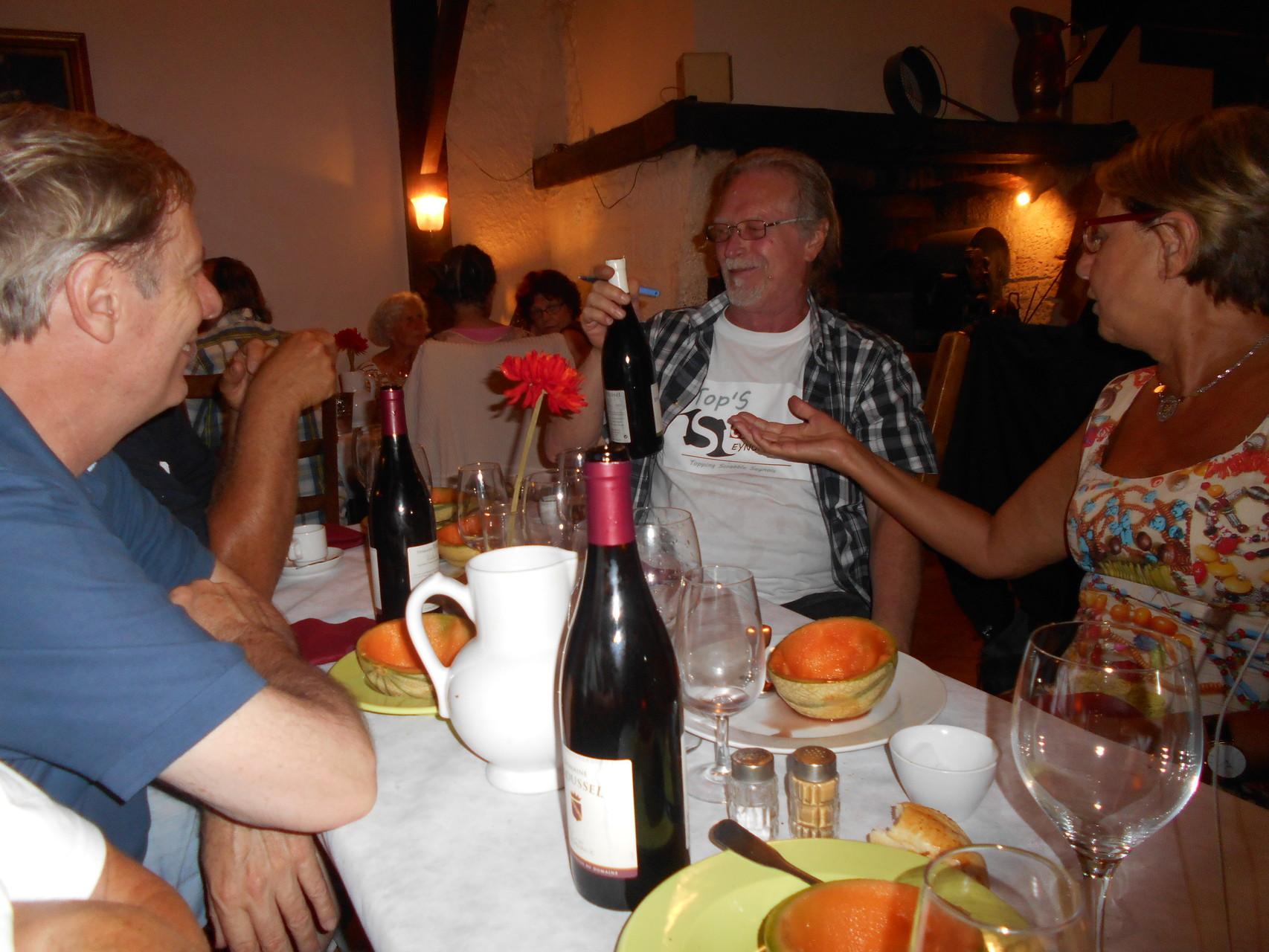 In vino veritas!!!! la dive bouteille de Serge