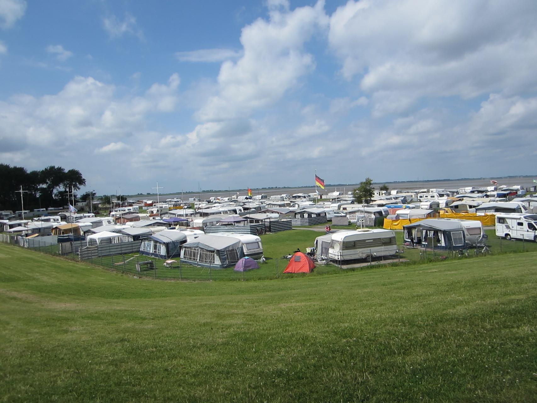 Campingplatz Rennweide im Frühjahr