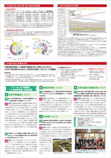塚本茂樹 県政レポート 11号 裏面