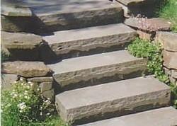 Blockstufen Sandstein Granit und Muschelkalk