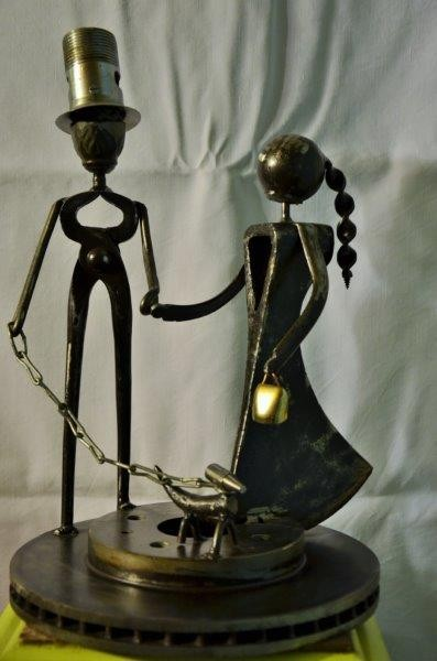 Art tof cr ations sculptures art tof cr ations - Vieux materiaux recuperation ...